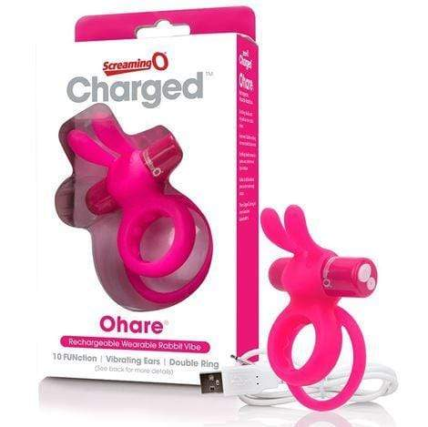 Screaming O - Charged Cock Rings Screaming O Charged Ohare Vibrating Cock Ring- Pink