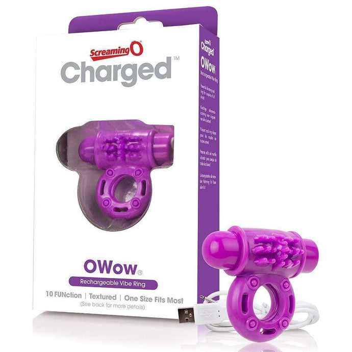 Screaming O - Charged Cock Rings Screaming O Charged OWow Vibrating Cock Ring - Purple