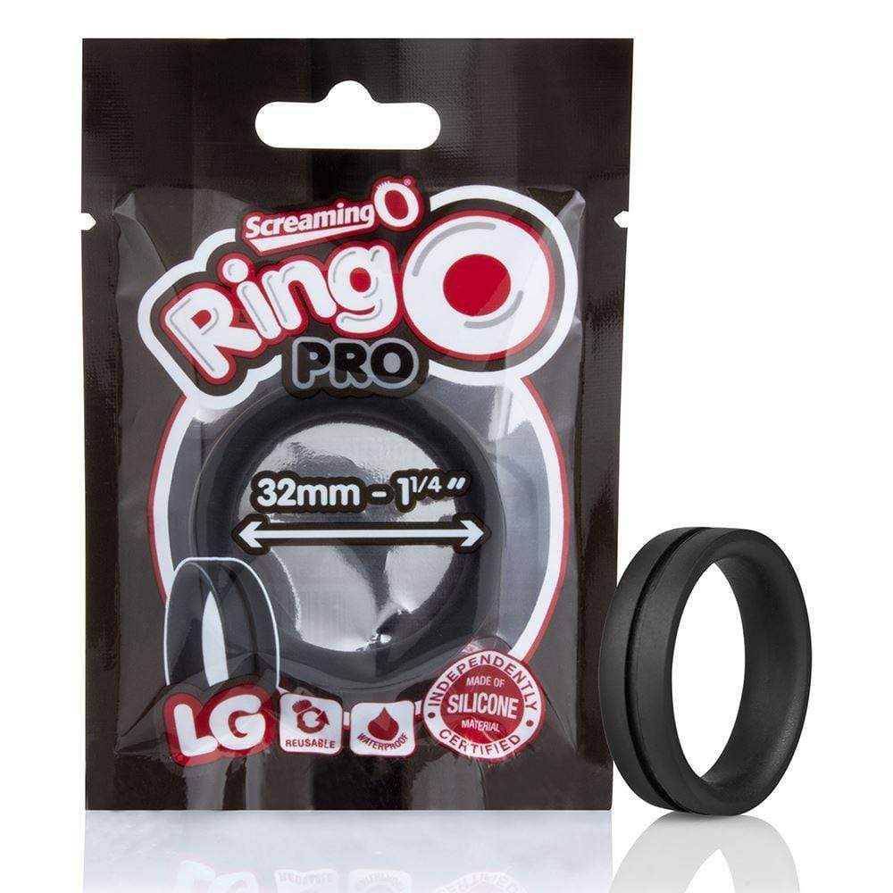 Screaming O - Ringo inc Rangler Cock Rings Screaming O RingO Pro LG Cock Ring Black