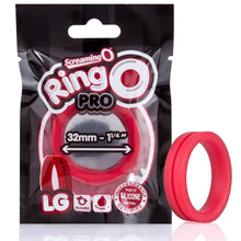Load image into Gallery viewer, Screaming O - Ringo inc Rangler Cock Rings Screaming O RingO Pro Silicone Cock Ring Large Red