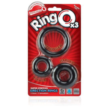 Load image into Gallery viewer, Screaming O - Ringo inc Rangler Cock Rings Screaming O RingO's 3 Multi Sized Cock Rings Black