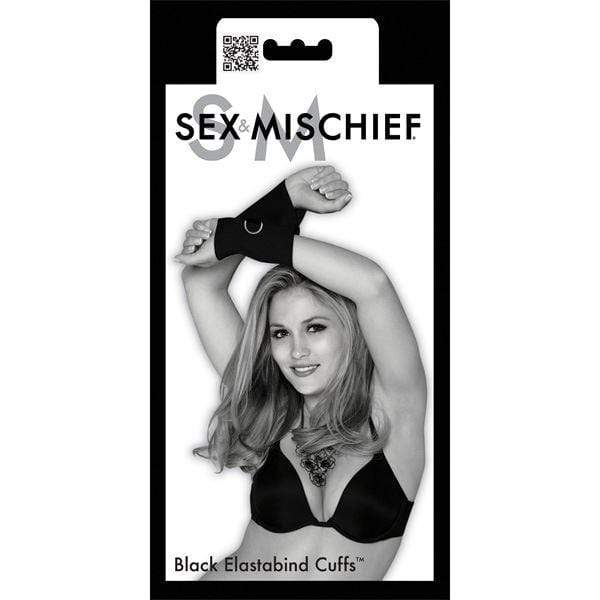 Sex & Mischief Restraints Sex and Mischief Black Elastabind Cuffs Wrist Restraint Bondage Black