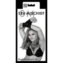 Load image into Gallery viewer, Sex & Mischief Restraints Sex and Mischief Black Elastabind Cuffs Wrist Restraint Bondage Black
