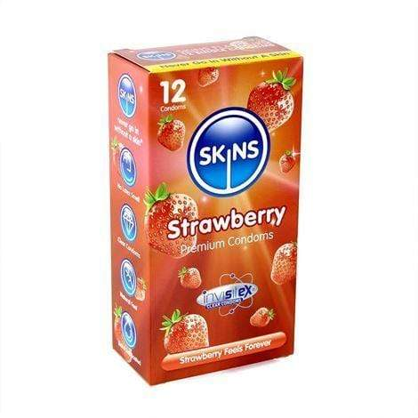 Skins Condoms UK Condoms Skins Condoms Strawberry 12 Pack