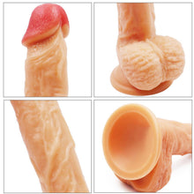 "Load image into Gallery viewer, Spanksy Realistic Dildos Spanksy 8"" Suction Base Dildo Flesh"