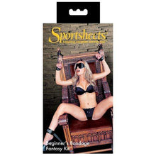 Load image into Gallery viewer, Sportsheets Restraints Sportsheets Beginners Bondage Restraint Play Fantasy Kit Black