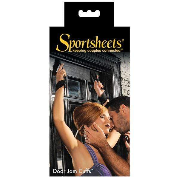 Sportsheets Restraints Sportsheets Door Jam Over the Door Bondage Restraint Cuffs Black