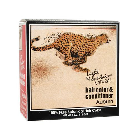 Light Mountain Natural Hair Color And Conditioner Auburn - 4 Fl Oz - Humble + Lavi