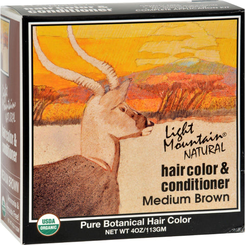Light Mountain Natural Hair Color And Conditioner Medium Brown - 4 Fl Oz - Humble + Lavi