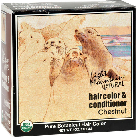 Light Mountain Natural Hair Color And Conditioner Chestnut - 4 Fl Oz - Humble + Lavi