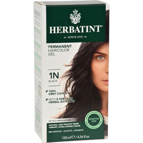 Herbatint Permanent Herbal Haircolour Gel 1n Black - 135 Ml - Humble + Lavi