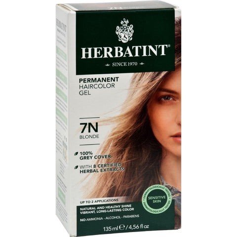 Herbatint Permanent Herbal Haircolour Gel 7n Blonde - 135 Ml - Humble + Lavi