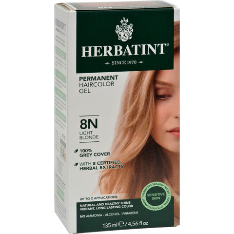 Herbatint Permanent Herbal Haircolour Gel 8n Light Blonde - 135 Ml - Humble + Lavi