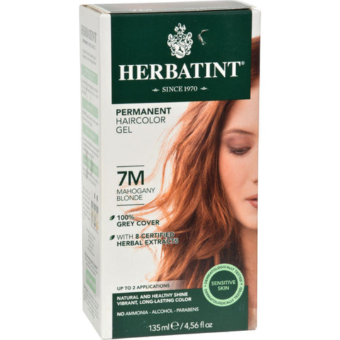 Herbatint Permanent Herbal Haircolour Gel 7m Mahogany Blonde - 135 Ml - Humble + Lavi