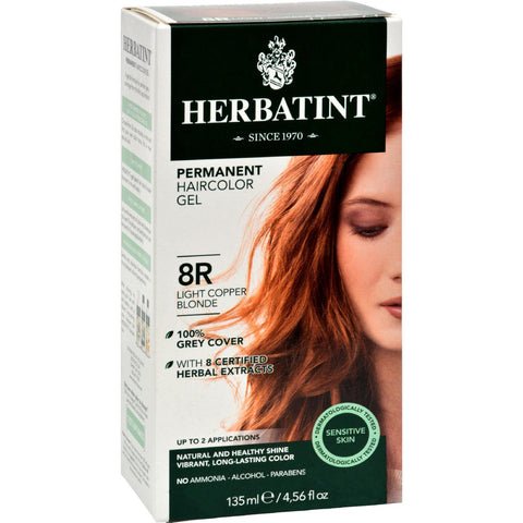 Herbatint Permanent Herbal Haircolour Gel 8r Light Copper Blonde - 135 Ml - Humble + Lavi
