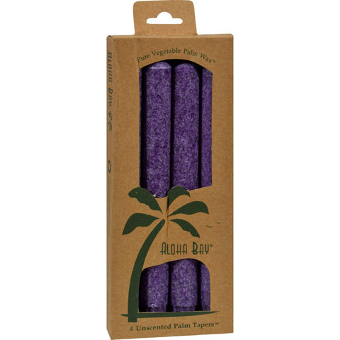Aloha Bay Palm Tapers Violet - 4 Candles - Humble + Lavi