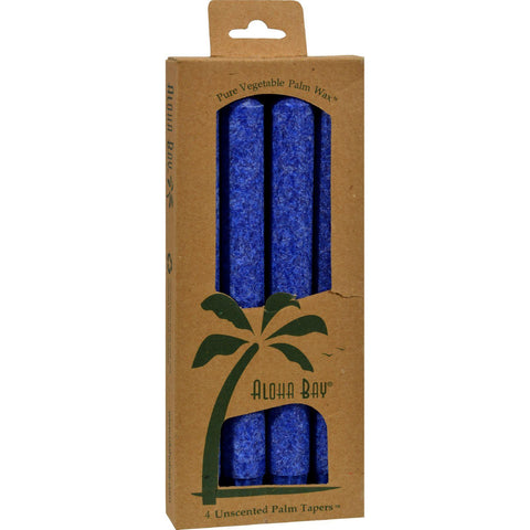 Aloha Bay Palm Tapers Royal Blue - 4 Candles - Humble + Lavi
