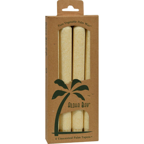 Aloha Bay Palm Tapers Cream - 4 Candles - Humble + Lavi