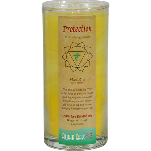 Aloha Bay Chakra Candle Jar Protection - 11 Oz - Humble + Lavi