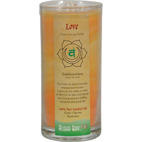 Aloha Bay Chakra Candle Jar Love - 11 Oz - Humble + Lavi