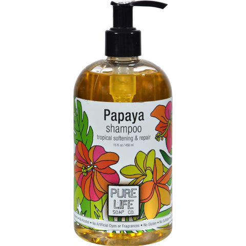 Pure Life Shampoo Papaya - 14.9 Fl Oz - Humble + Lavi