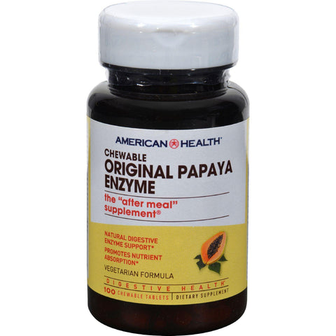 American Health Original Papaya Enzyme - 100 Tablets - Humble + Lavi
