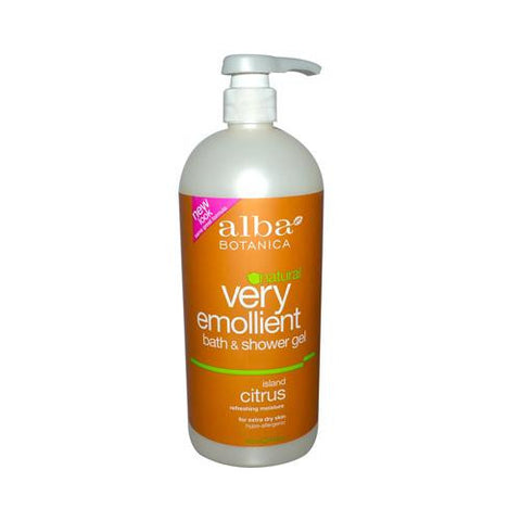 Alba Botanica Very Emollient Bath And Shower Gel Island Citrus - 32 Fl Oz - Humble + Lavi