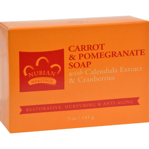 Nubian Heritage Bar Soap Carrot And Pomegranate - 5 Oz - Humble + Lavi
