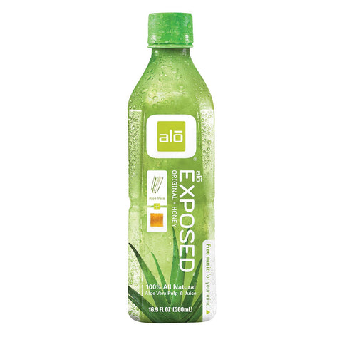 Alo Original Exposed Aloe Vera Juice Drink -  Original And Honey - Case Of 12 - 16.9 Fl Oz. - Humble + Lavi