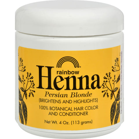 Rainbow Research Henna 100% Botanical Hair Color And Conditioner - Persian Blonde - 4 Oz - Humble + Lavi