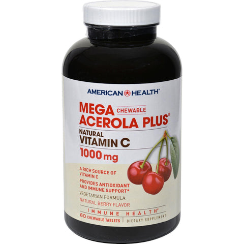 American Health Mega Acerola Plus Chewable Natural Berry - 60 Chewable Wafers - Humble + Lavi