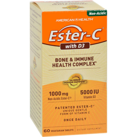 American Health Ester-c With D3 Bone And Immune Health Complex - 60 Tablets - Humble + Lavi