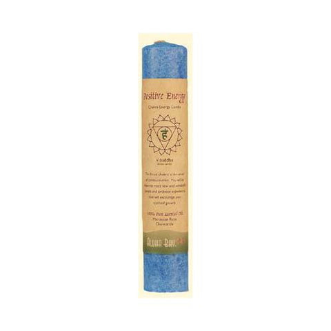Aloha Bay Chakra Pillar Candle Positive Energy Blue - 1 Candle - Humble + Lavi