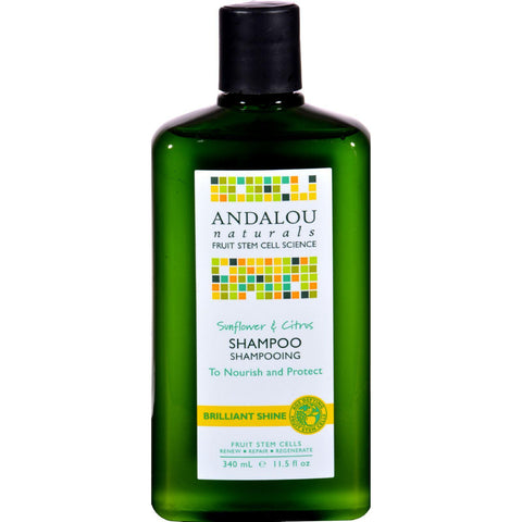 Andalou Naturals Brilliant Shine Shampoo Sunflower And Citrus - 11.5 Fl Oz - Humble + Lavi