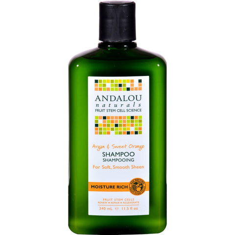 Andalou Naturals Moisture Rich Shampoo Argan And Sweet Orange - 11.5 Fl Oz - Humble + Lavi