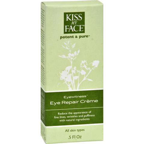 Kiss My Face Eye Repair Creme Eyewitness - 0.5 Fl Oz - Humble + Lavi