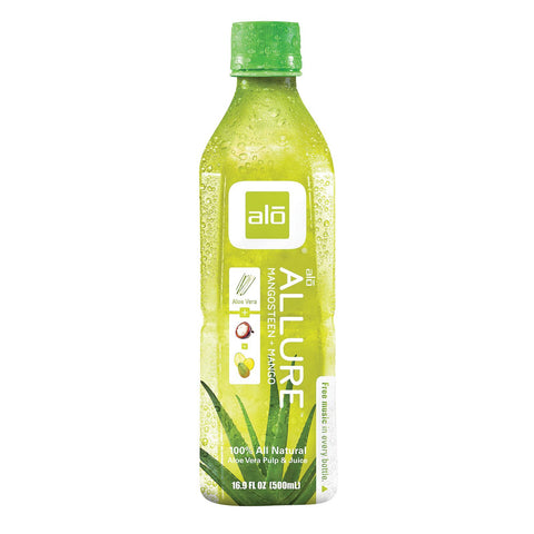 Alo Original Allure Aloe Vera Juice Drink - Mangosteen And Mango - Case Of 12 - 16.9 Fl Oz. - Humble + Lavi