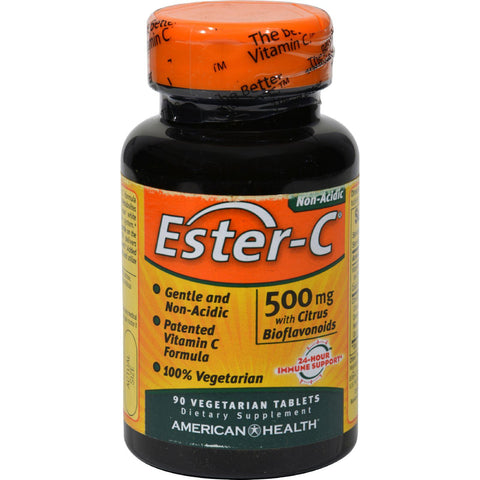 American Health Ester-c With Citrus Bioflavonoids - 500 Mg - 90 Vegetarian Tablets - Humble + Lavi