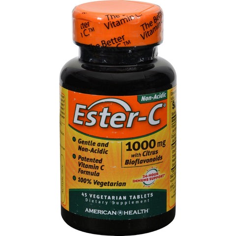 American Health Ester-c With Citrus Bioflavonoids - 1000 Mg - 45 Vegetarian Tablets - Humble + Lavi