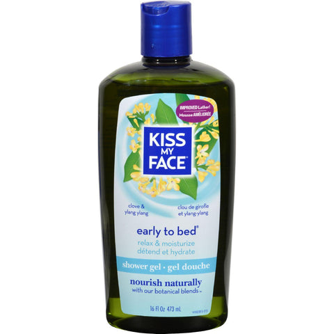Kiss My Face Bath And Shower Gel Early To Bed Clove And Ylang Ylang - 16 Fl Oz - Humble + Lavi