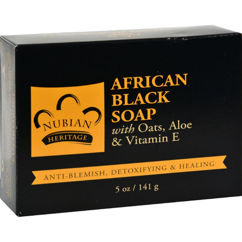 Nubian Heritage Bar Soap African Black - 5 Oz - Humble + Lavi