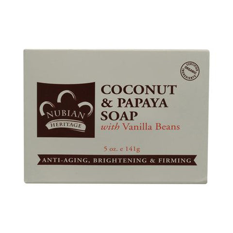 Nubian Heritage Bar Soap Coconut And Papaya With Vanilla Beans - 5 Oz - Humble + Lavi