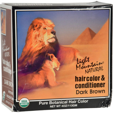 Light Mountain Natural Hair Color And Conditioner Dark Brown - 4 Fl Oz - Humble + Lavi