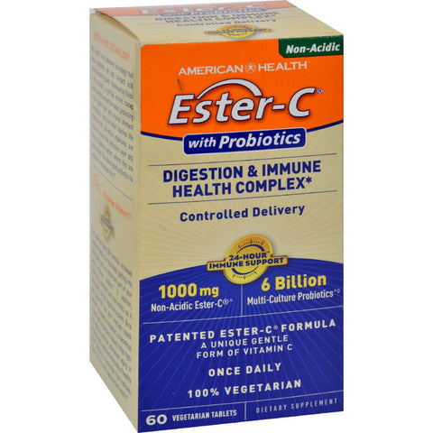 American Health Ester-c Digestion And Immune Health Complex - 1000 Mg - 60 Vegetarian Tablets - Humble + Lavi