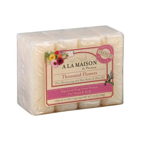 A La Maison Bar Soap - Thousand Flowers - Value 4 Pack - Humble + Lavi