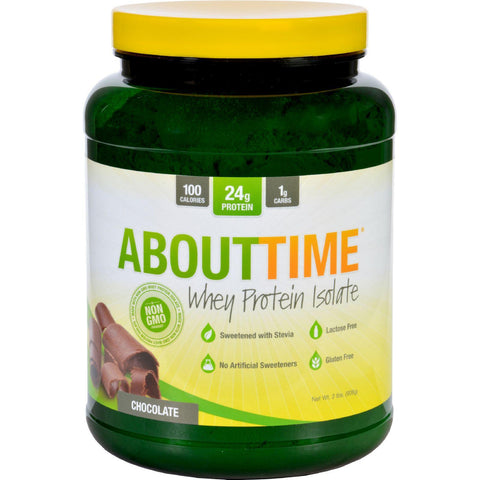 About Time Whey Protein Isolate - Chocolate - 2 Lb - Humble + Lavi