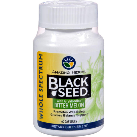 Amazing Herbs Black Seed With Bitter Melon - 100 Capsules - Humble + Lavi
