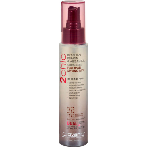 Giovanni 2chic Flat Iron Styling Mist With Brazilian Keratin And Argan Oil - 4 Fl Oz - Humble + Lavi
