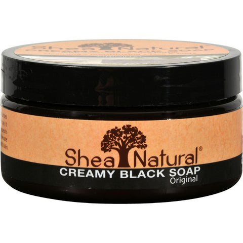 Shea Natural African Black Soap With Shea Butter - 8 Oz - Humble + Lavi
