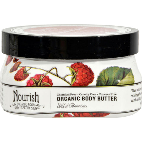 Nourish Organic Body Butter Wild Berry - 3.6 Oz - Humble + Lavi